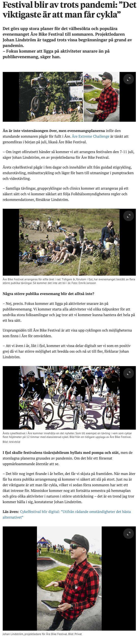 """Festival blir av trots pandemi: """"Det viktigaste är att man får cykla"""".jpg"""