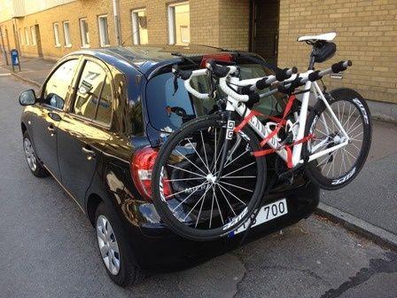 cykelhållare utan dragkrok