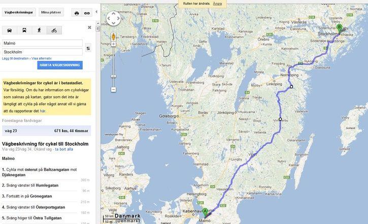 från malmö till stockholm