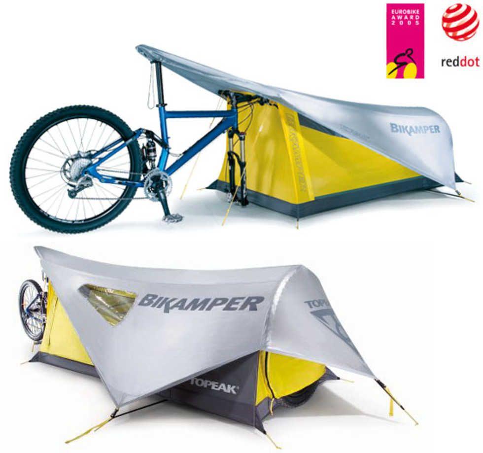 tält för cykling skall vara små och lätta