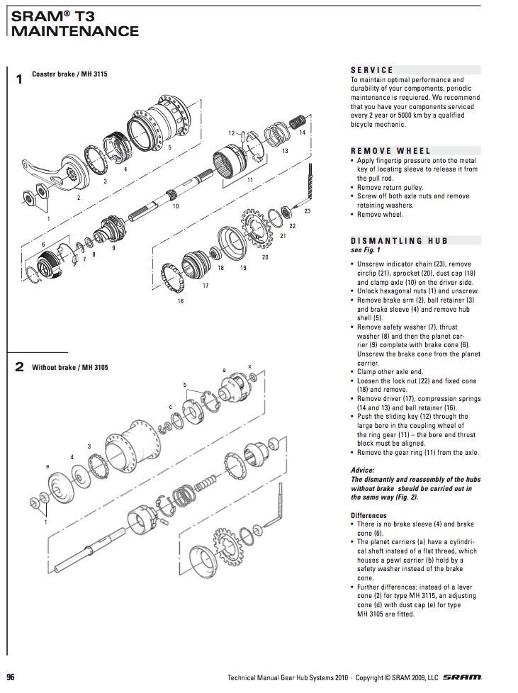 baknav cykel sprängskiss
