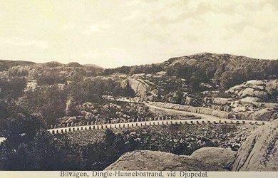 Hunnebostrand-Dingle Bilvägen vid Djupedal ca 1925.jpg