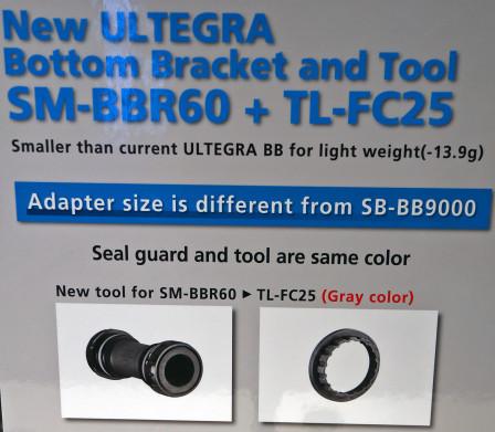 Ultegra SM-BB60 med nytt monteringsverktyg