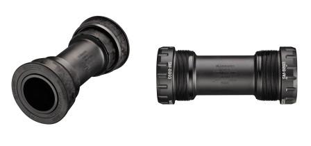 XTR SM-BB94 pressfit till vänster och SM-BB93 gängat till höger