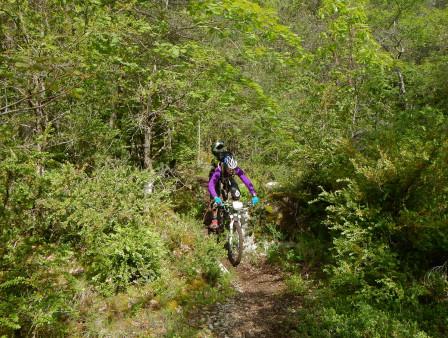 Kristin på en mysig transport nere i dalen.