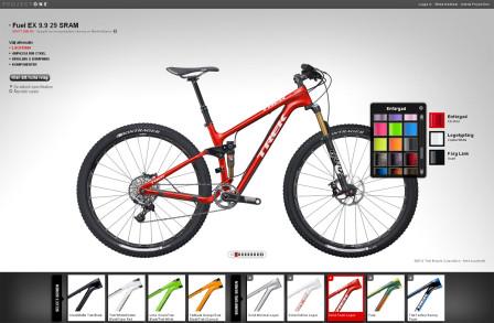 Välj färg och färgtema i konfiguratorn. Antal färgkombinationer är snudd på oändliga. Foto: Trek