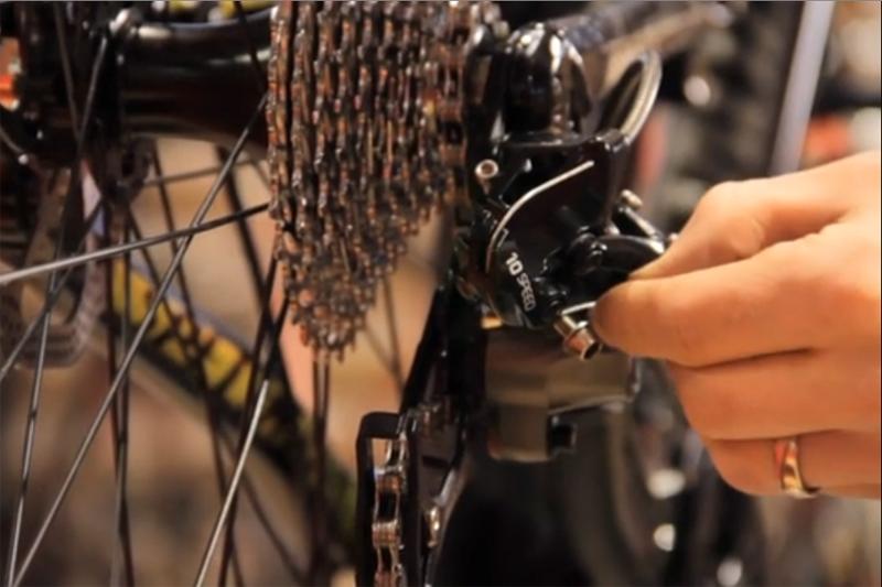 byta växelvajer cykel shimano