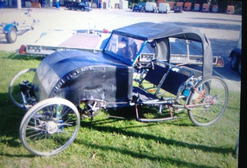 Hemmabyggd cykelbil