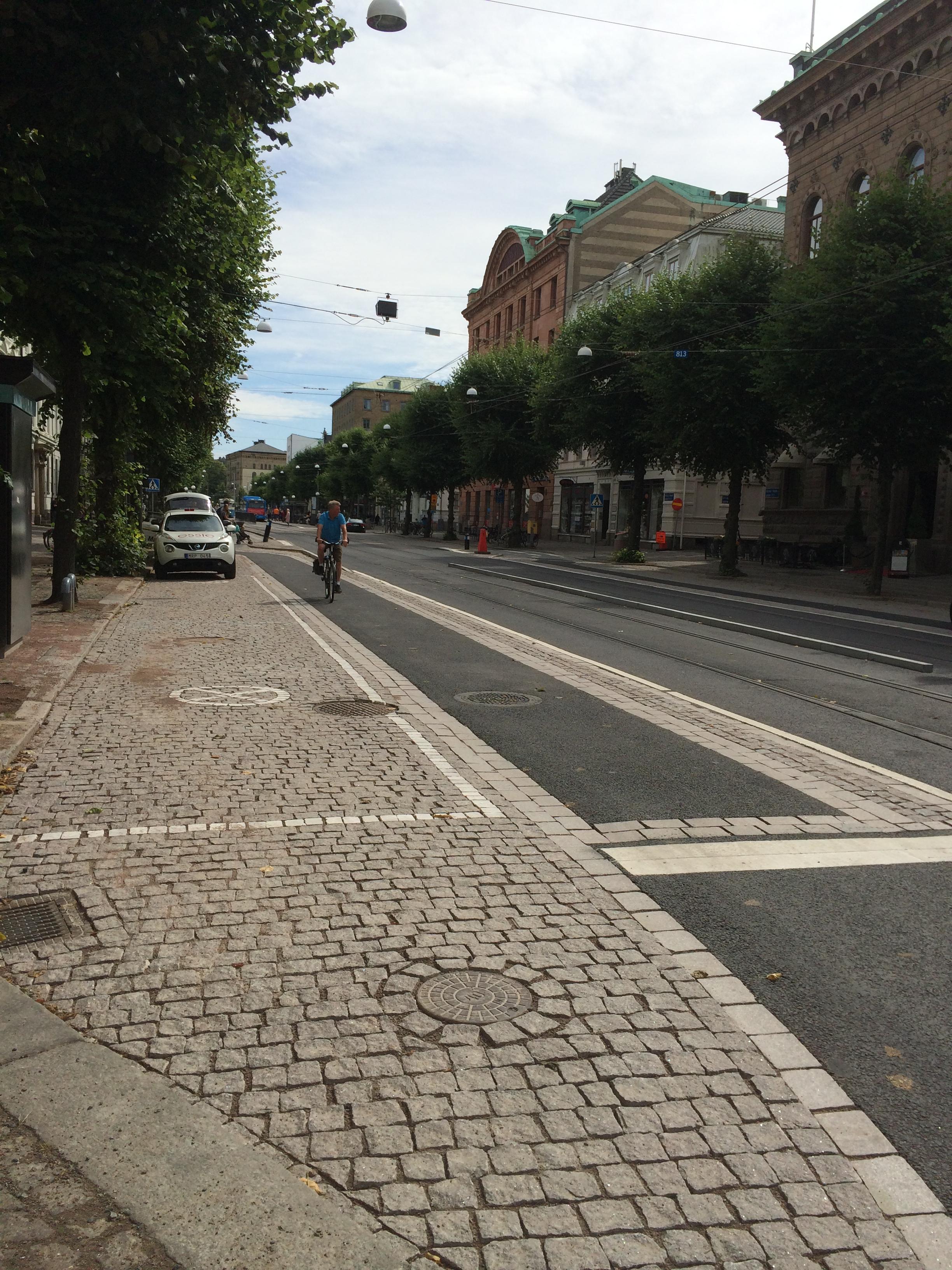 Cykelfartsgata i Göteborg