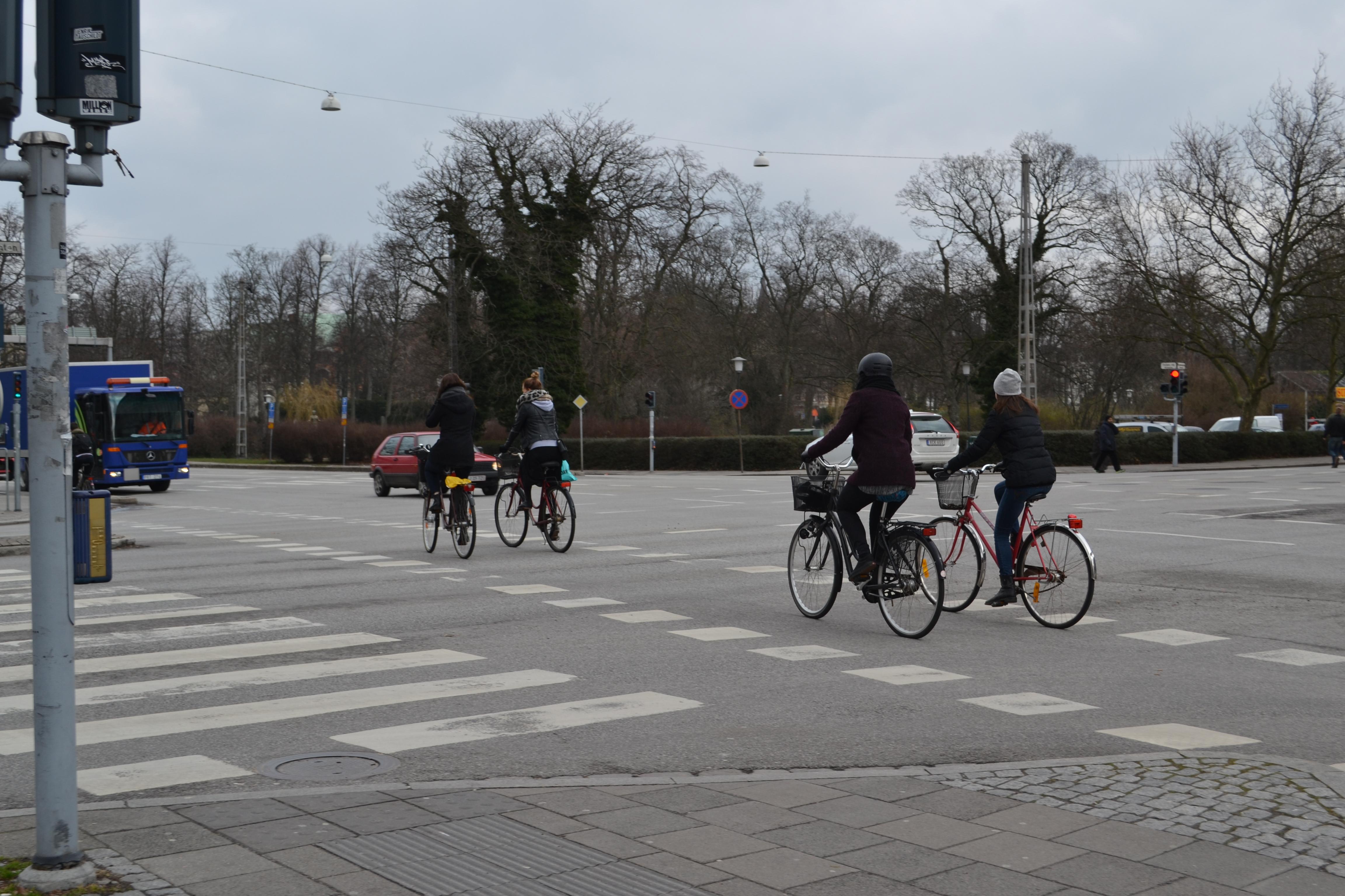 Bevakad cykelpassage