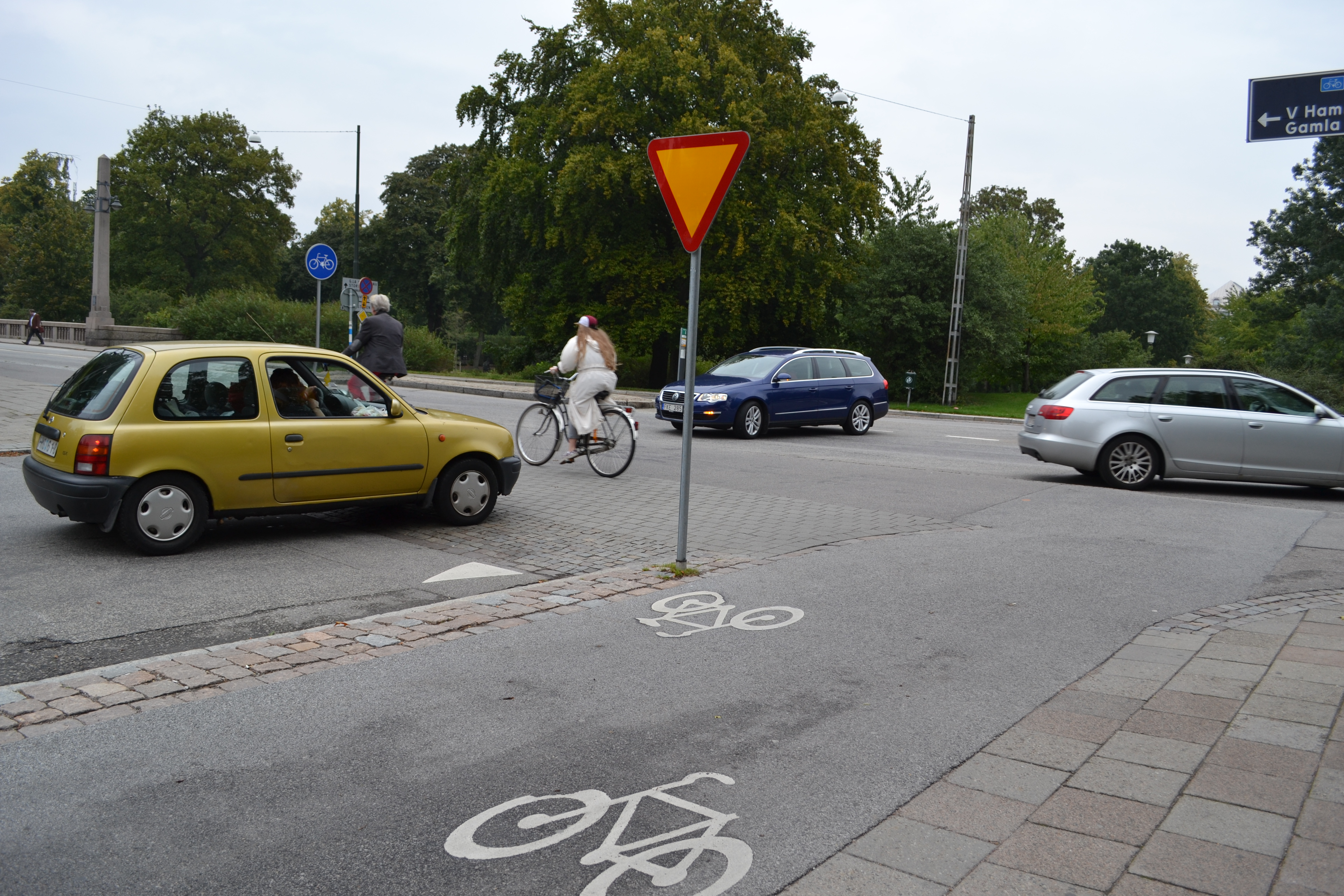 Obevakad cykelöverfart