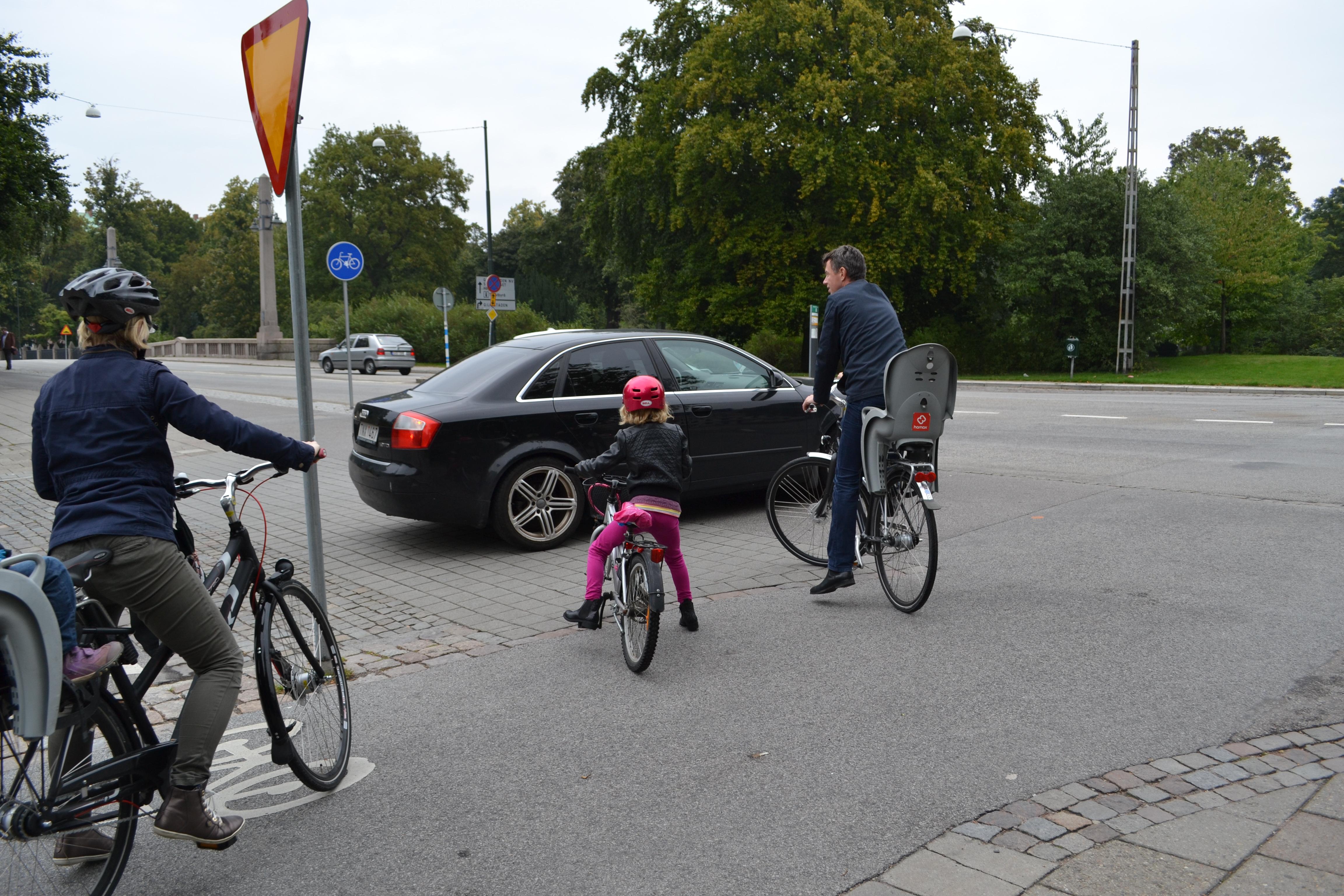Blockerad cykelöverfart