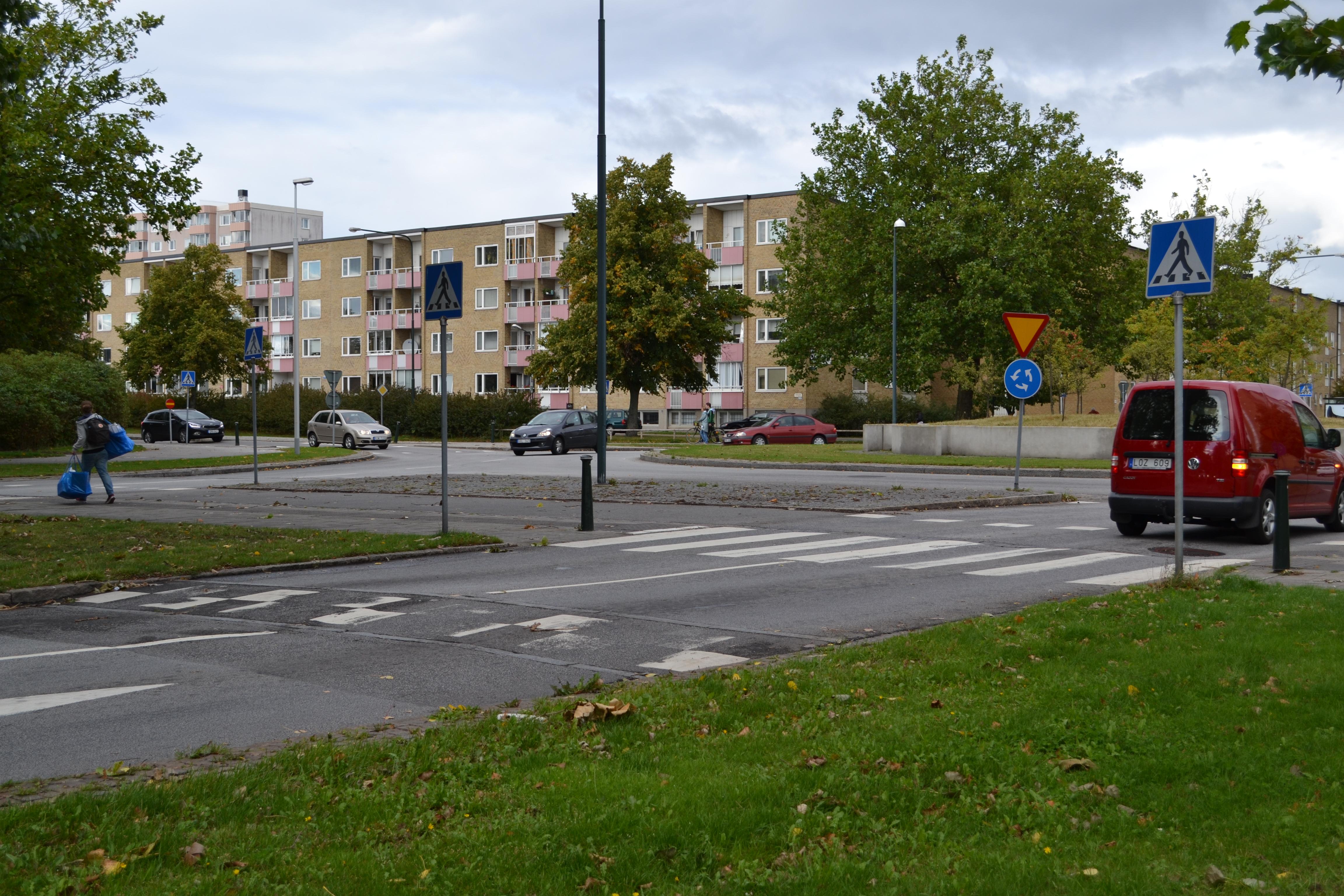 Väjningsplikt efter cykelpassage