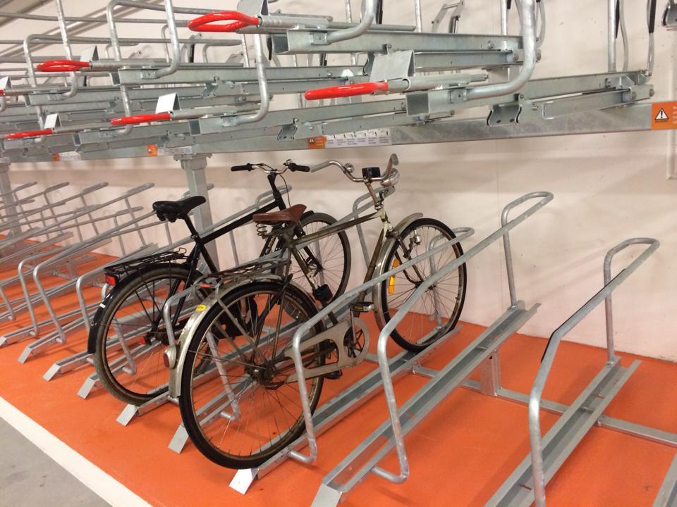 Bike & Ride Malmö C, tvåvåningsställ