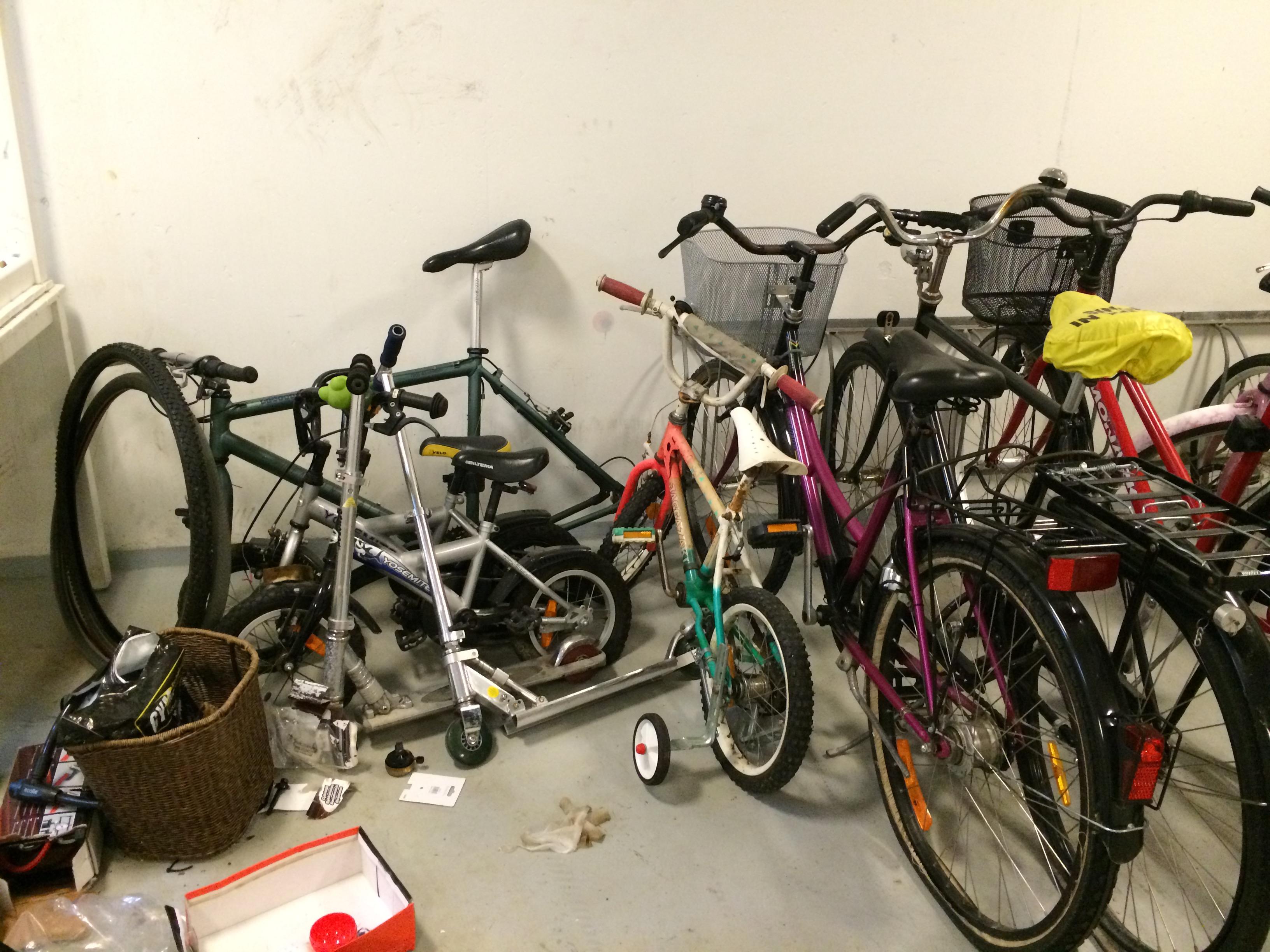 Cykelrum i privat fastighet