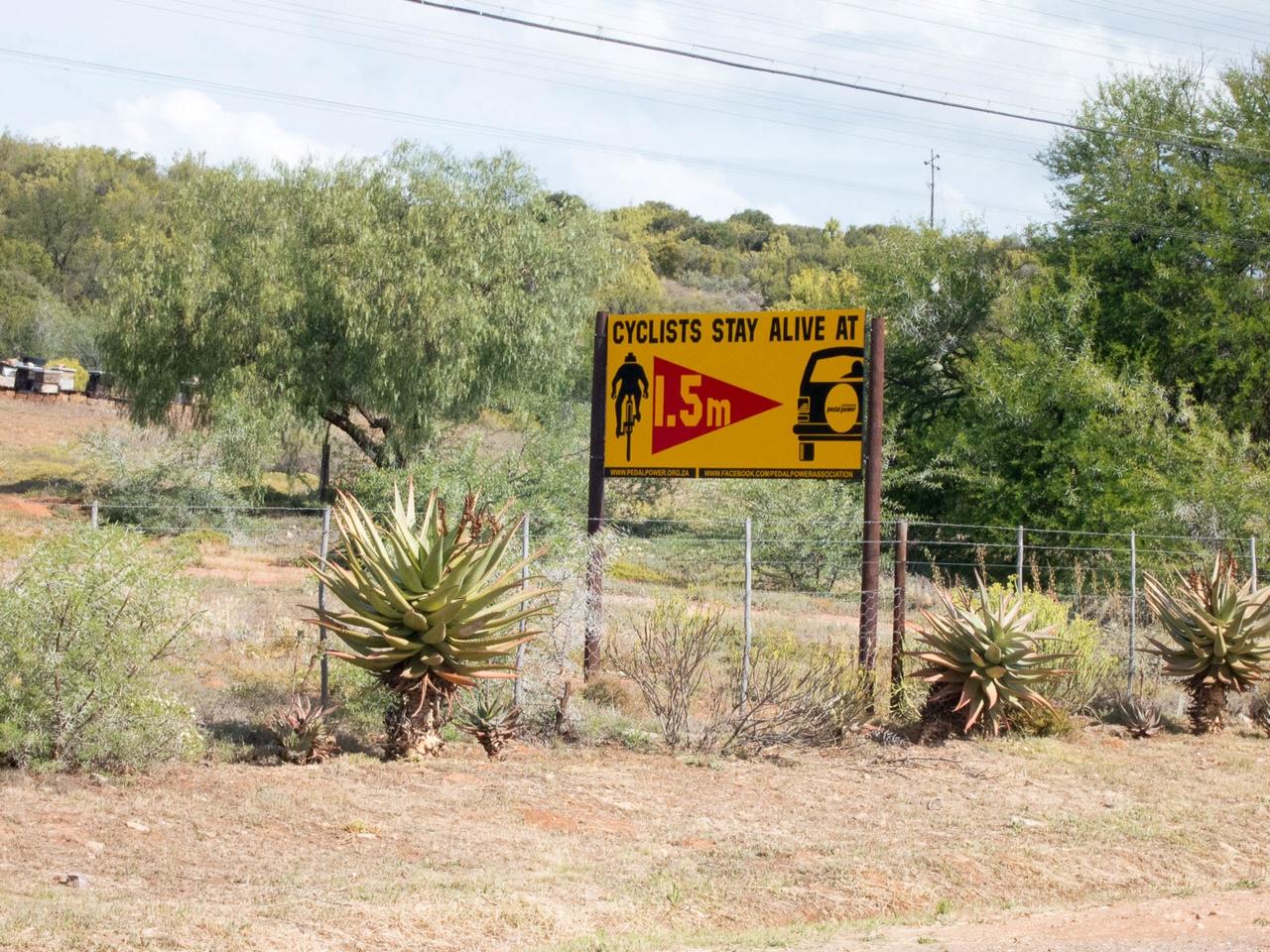 Skylt i Sydafrika