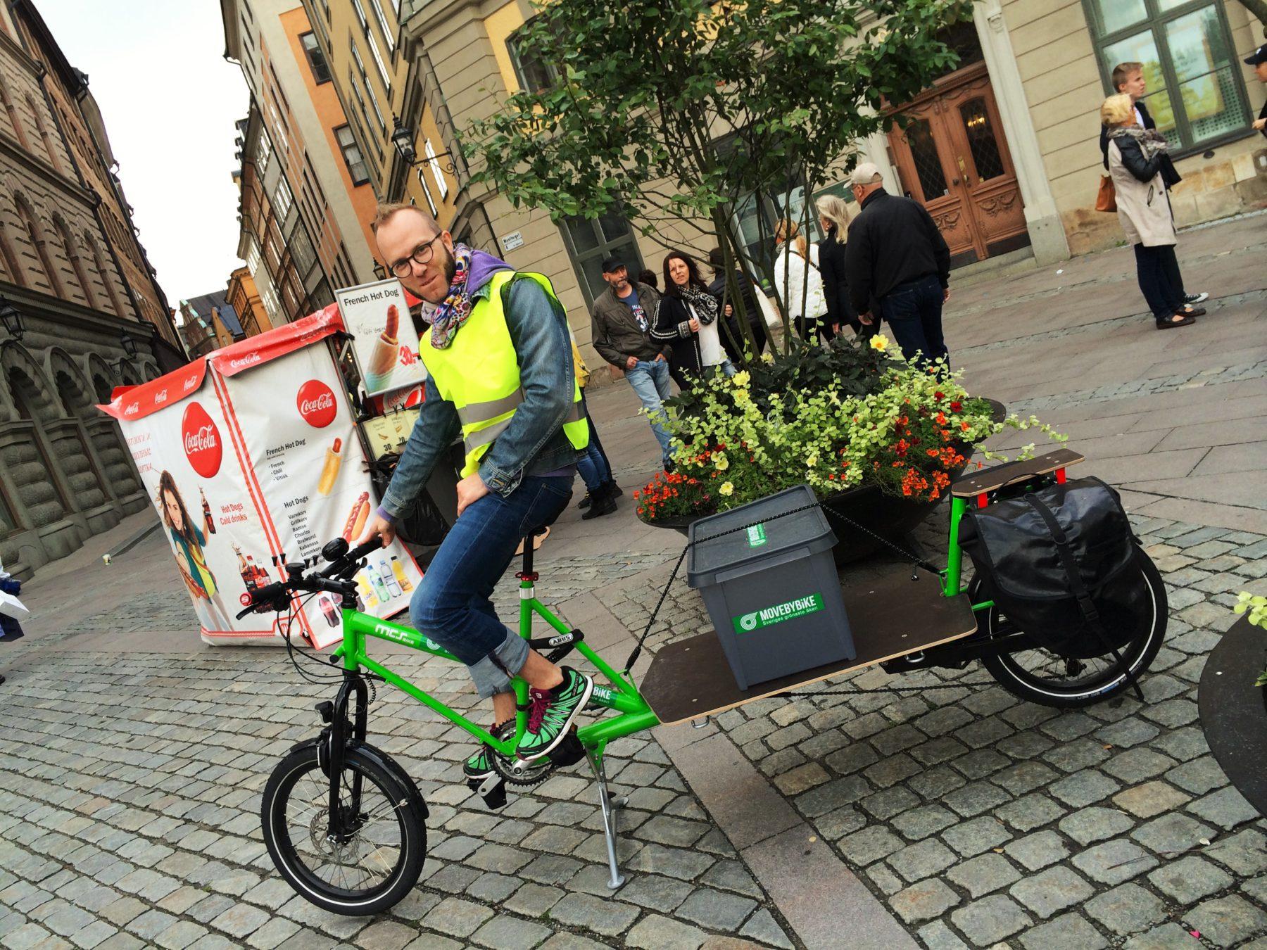 MoveByBike Stockholm visar upp transportmöjligheter med cykel