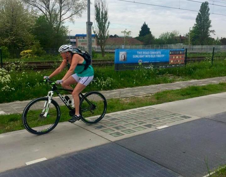 Cykelbana i Krommenie.