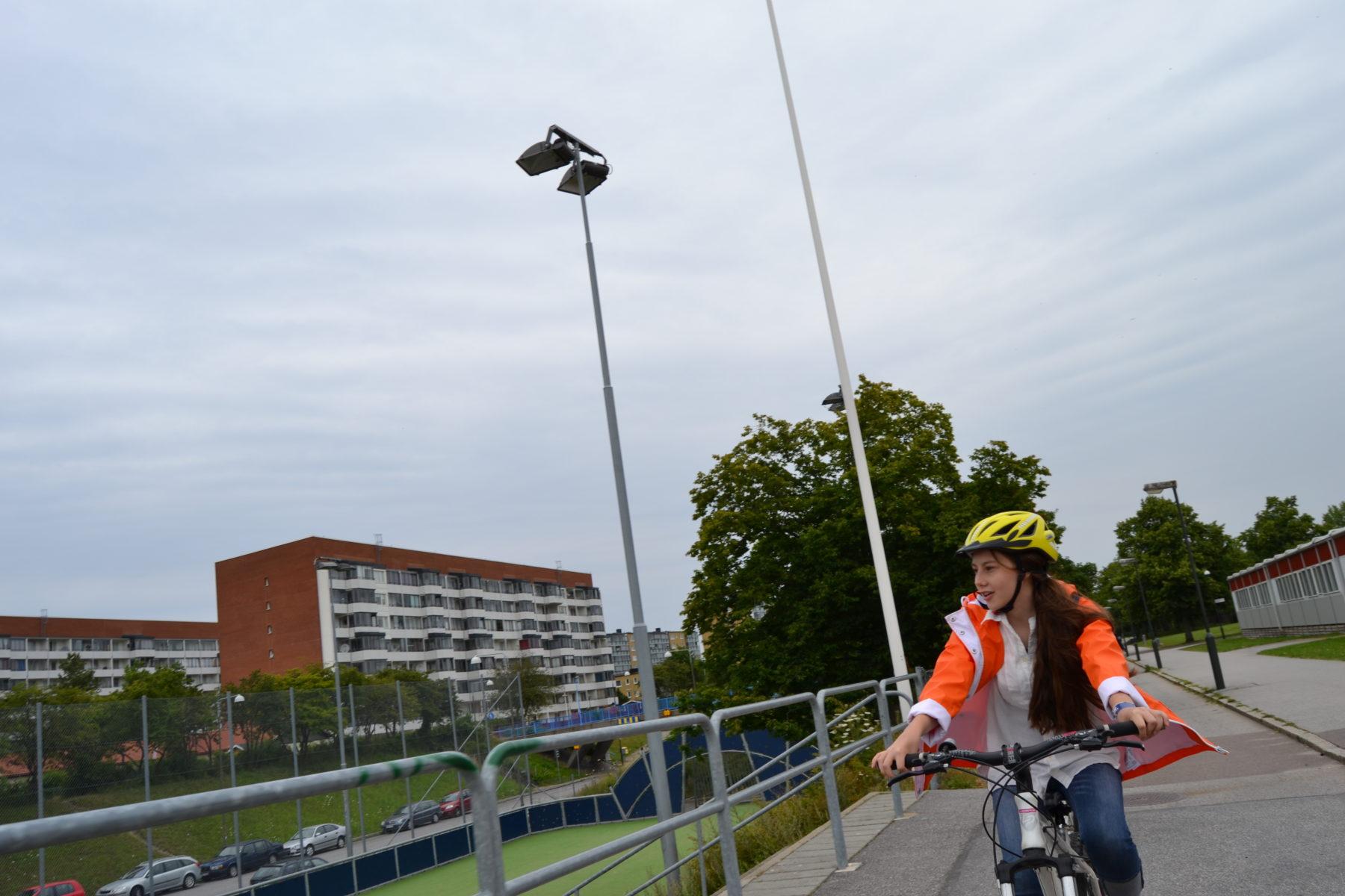 Det fanns mycket att se på cykelturen