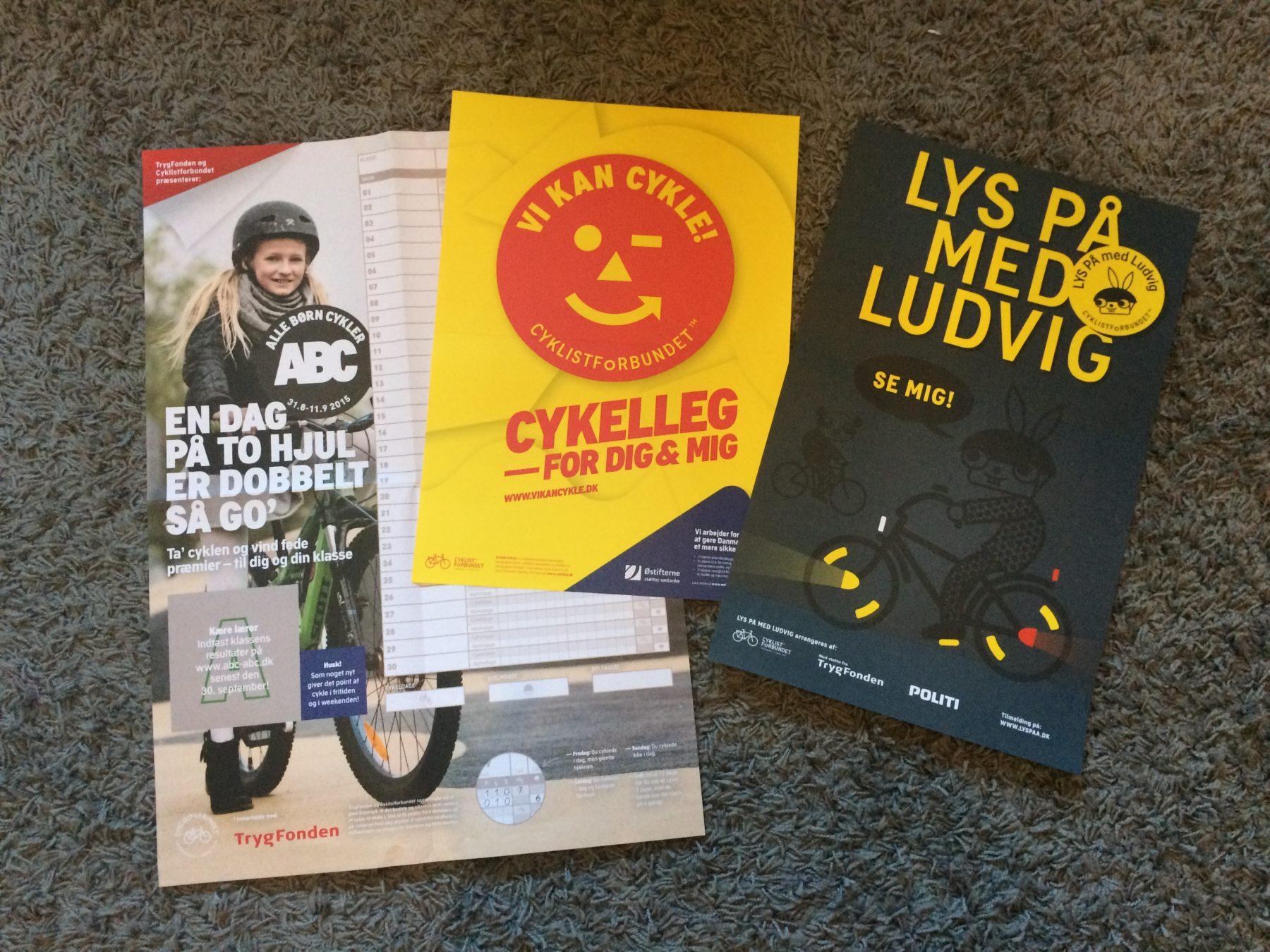 Nationella cykelkampanjer för de danska barnen