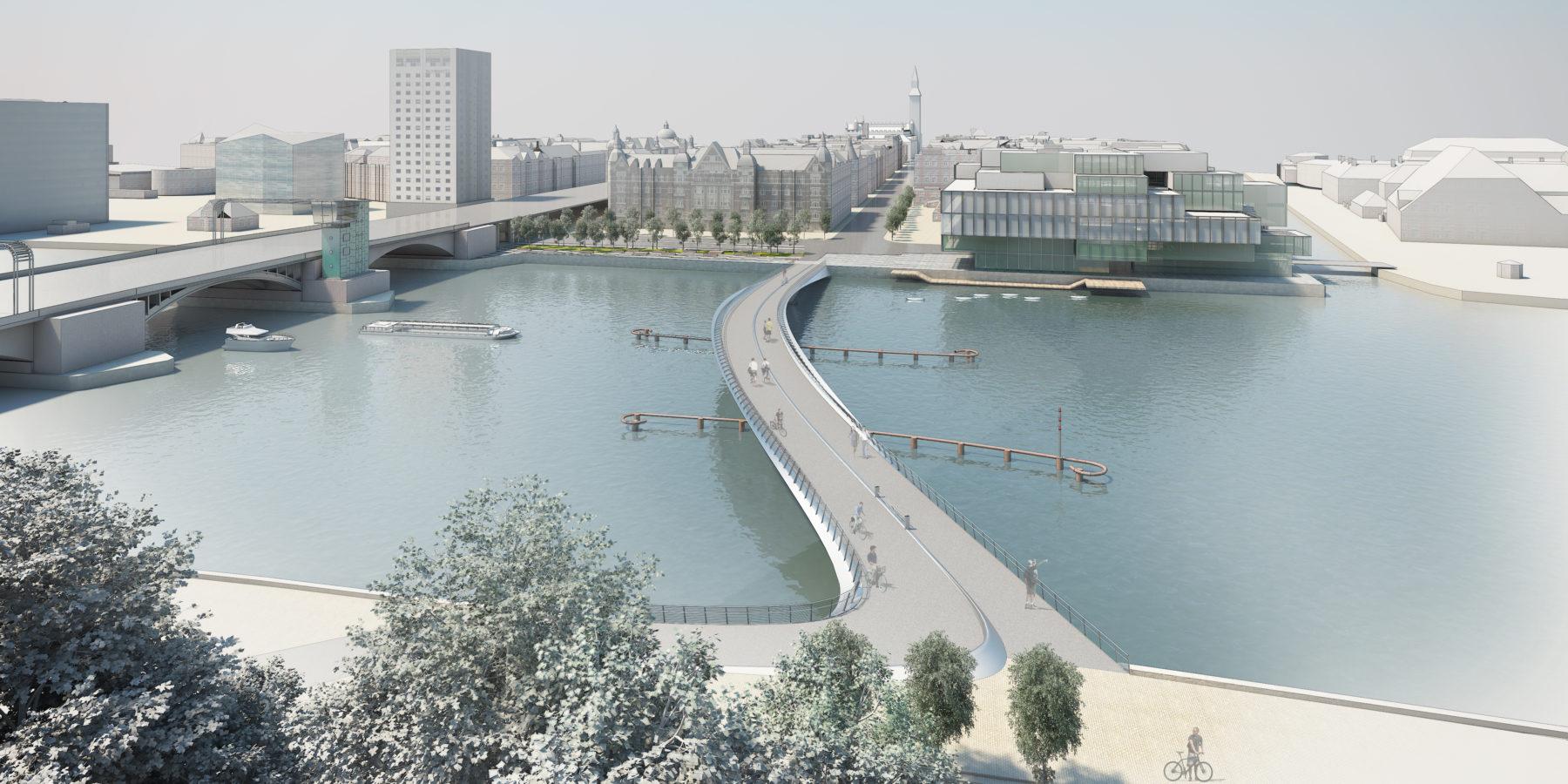 Köpenhamns kommande gång- och cykelbro över Indehavnen