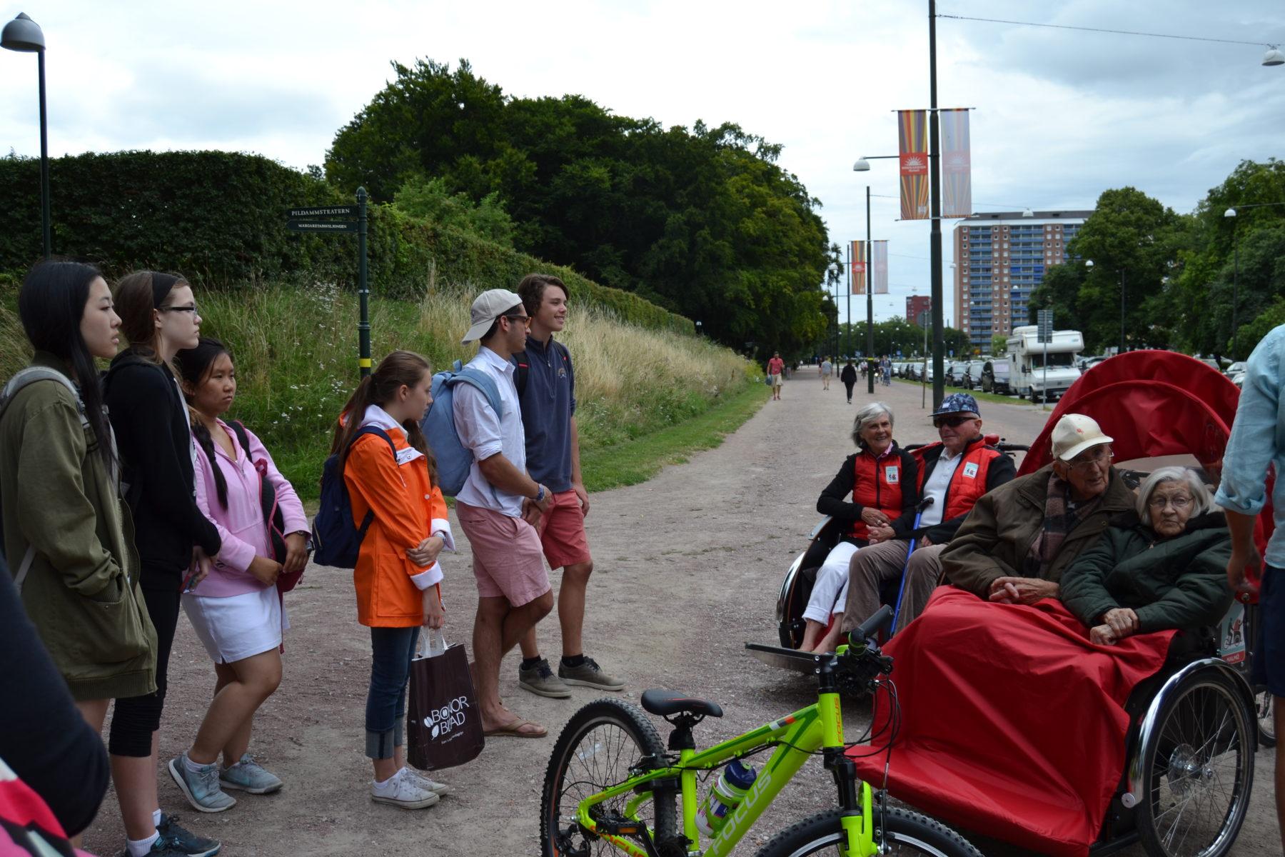 Årets elever träffar Cykling utan ålder